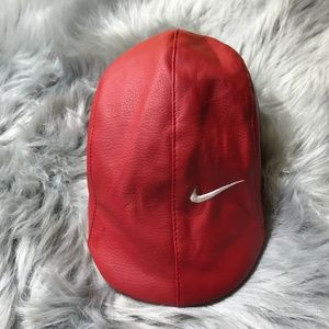 HP 💖 Nike Red Leather newspaper boy Hat OS Baby